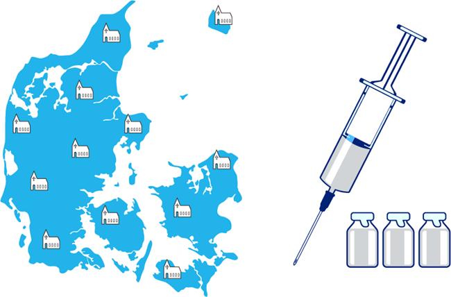 Statens Serum Institut deler nu opgørelser over vaccinationstilslutningen i sogne
