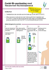Lille billede af information til vaccinator om covid-19-vaccine fra AstraZeneca