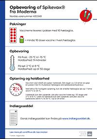 Lille billede af information om opbevaring af covid-19-vaccine fr Moderna